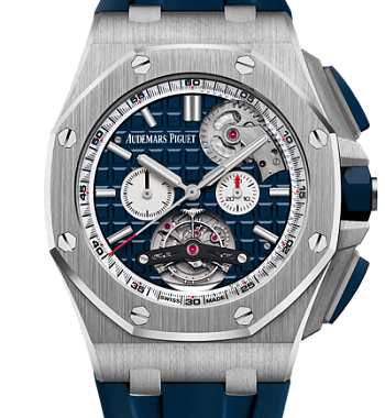 картинка ЧАСЫ AUDEMARS PIGUET ROYAL OAK OFFSHORE TOURBILLON CHRONOGRAPH SELFWINDING 26540ST.OO.A027CA.01 от магазина Одежда+