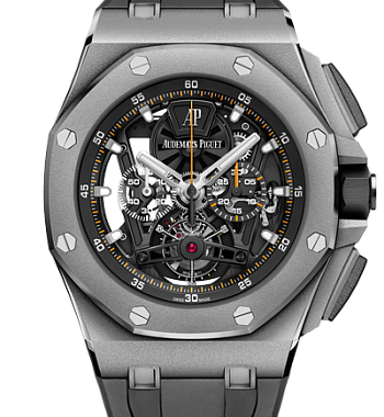 картинка ЧАСЫ AUDEMARS PIGUET ROYAL OAK OFFSHORE TOURBILLON CHRONOGRAPH 26407TI.GG.A002CA.01 от магазина Одежда+